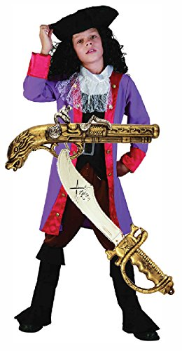 Captain Boys Kostüme Hook (Pirate Boy/Captain Hook-Kostüm mit Schwert & Gun ab)