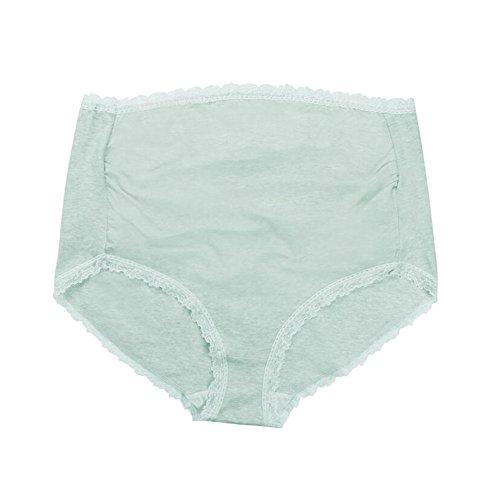 Zhuhaixmy Mutterschaft Hoch Elastizität Cotton Unterwäsche Schwangerschaft Hohe Taille Support Slip Grün