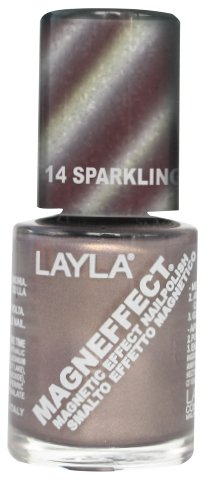 Layla Cosmetics Magneffect Nagellack, sparkling champagne, 1er pack (1 x 0.01 L) (Effect Champagne)