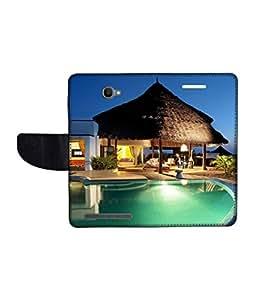KolorEdge Printed Flip Cover For Alcatel One Touch Flash Multicolor - (1479-55KeMLogo09375AlcatelFlash)