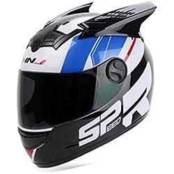Precioso Orejas de Dibujos Animados Automóvil Carrera Antivaho Casco Facial Motocicleta Hombres Mujeres Casco White