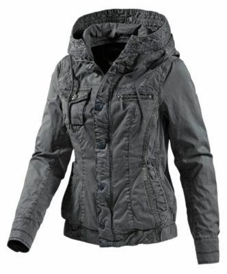 Khujo giacca da donna con cappuccio, Anthrazit, S