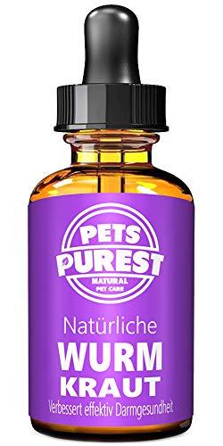 Pets Purest 100% Natürliche Wurm Kraut Pet-Liquid Alternative zu ekligen chemischen Produkten Vorteile Darmhygiene Für Hunde Katzen Geflügel Vögel Frettchen Kaninchen & Haustiere 2 Jahre Liefern -