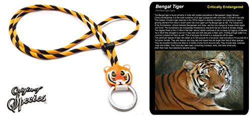 Preisvergleich Produktbild Original Lanyards Origin of Species Bengal Tiger Schlüsselanhänger Unisex Erwachsene, Orange