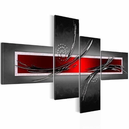 !!! SENSATIONSPREIS !!! Bilder abstrakt– Wandbild - Vlies Leinwand - 130 x 72.5 cm - Abstrakt Bild - Kunstdrucke – mehrere Farben und Größen im Shop - Fertig zum Aufhängen - !!! 100% MADE IN GERMANY !!! - 1025458a
