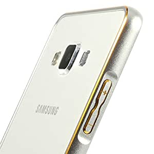 AE Aluminium Metal Screwless Bumper Dual Tone Frame Case Cover For SAMSUNG GALAXY ON 7 G6000 SILVER