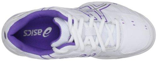 4digital Media Asia  Gel Game 4 W, Chaussures spécial tennis pour femme Blanc Cassé - Bianco (White/Fuchsia/Silver)