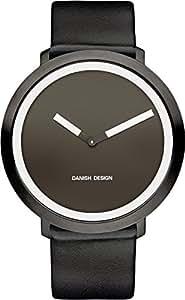 Danish Design - DZ120267 - Montre Femme - Quartz - Analogique - Bracelet Cuir Noir