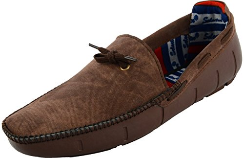 Anshul Fashion men's brown fabric & synthetic loafers-8