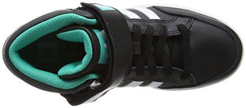 adidas Varial Mid, Chaussures de Skate Garçon Noir (Core Black/Ftwr White/Shock Mint)