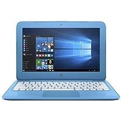"HP 14-AX001NS - Ordenador portátil de 14"" (Intel Celeron N3060, 4 GB de RAM, 32 GB de disco duro, Windows 10 Home) azul aqua - teclado QWERTY español"
