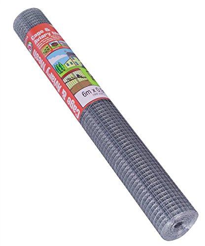 Gardman Grillage pour volière Maille de 13x 25mm galvanisé, 6x 0,9m