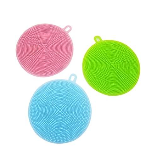 NUOLUX Pinceau Lavage en silicone pour cuisine salle de bain lot de 3