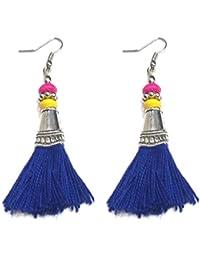 Gurjari Blue Colour Tassel Earing