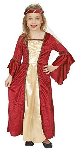 (Burgfräulein Mittelalter Kostüm für Mädchen Gr. 104 zu Karneval oder Ritterfest)