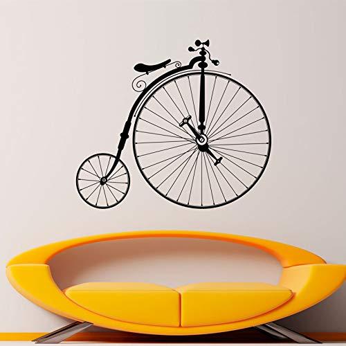 rad Aufkleber Hipster Wand Vinyl Aufkleber Sport Fahrrad Hause Schlafzimmer Dekor Wandbild Kunst Retro Große Räder Fahrrad Dekorationen 48x42 cm ()
