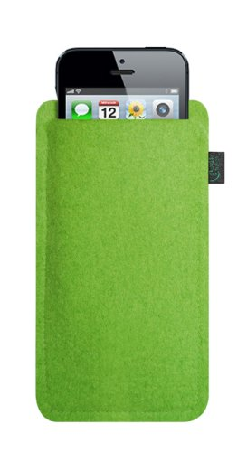 Krings Fashion - Custodia in feltro per Apple iPhone 5 Filzfarbe orange lime