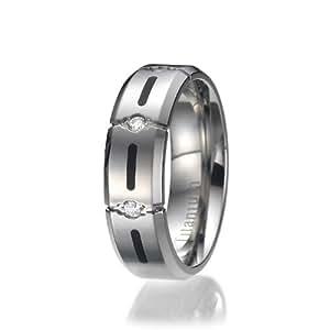8MM High Polish / Matte Finish Men's Titanium Ring Wedding Band