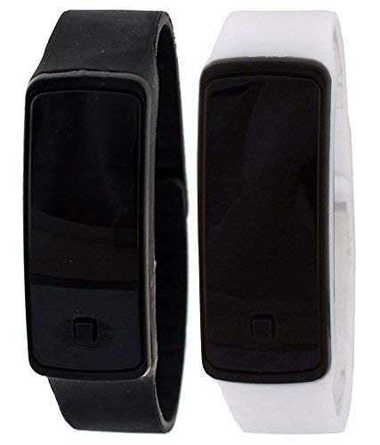 VITREND(R-TM) New Model Smart Looking Silicone LED Combo (Pack of 2) Digital Watches(Random Colours Will be Sent)