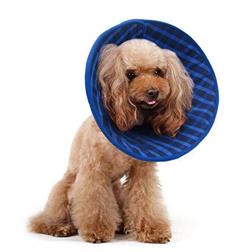 Alfie Pet by Petoga Couture Candace Hundehalsband, weich, für Hunde und Katzen, Größe XS, Blau -