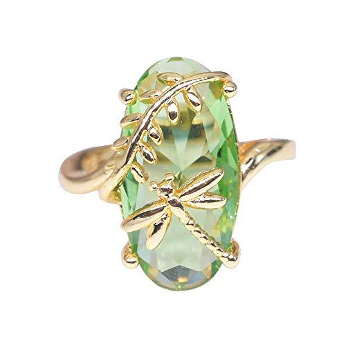 Kreativer Ring olivgrüner Ring Libelle YunYoud herzring doppelringe holzring titanring diamanten dreierring schlangenring Trend daumenringe