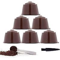 YISER Pack Cápsulas Filtros de Café Recargable Color Marron Reutilizable para Cafetera Dolce Gusto (PACK MARRON, 6)