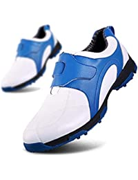FUBULE Zapatos de Golf Picos Impermeables Menos Zapatos Forro mágico Antideslizante Resistencia al Desgaste botón Giratorio Multifuncional al Aire Libre