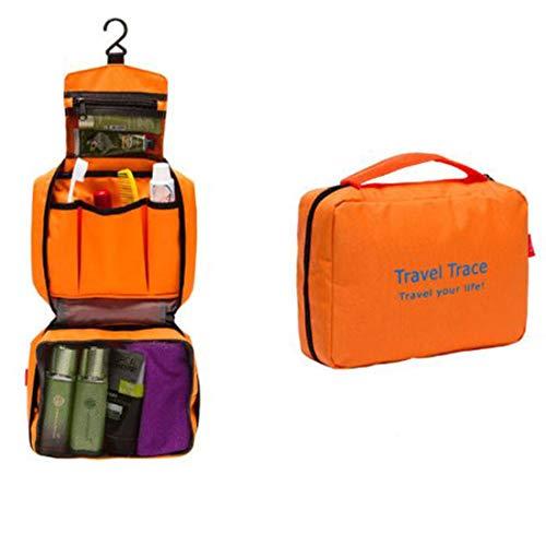 Digitronics Ltd Borsa Organizer da Viaggio Appendibile di Lusso per Accessori Bagno Trucchi Multi Uso Color Arancione