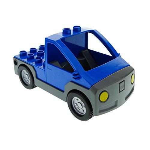 Bausteine gebraucht 1 x Lego Duplo Auto blau dunkel grau Transporter Werkstatt Wagen Lastwagen Pickup 4207804 47438c01