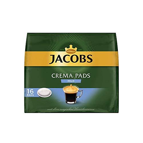 Jacobs Kaffeepads Crema Mild, 16 Senseo kompatible Pads für 16 Getränke