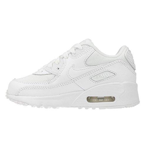 Nike Jungen Air Max 90 Mesh (Ps) Turnschuhe, Weiß, 28.5 EU Weiß (Weiß (White / White))