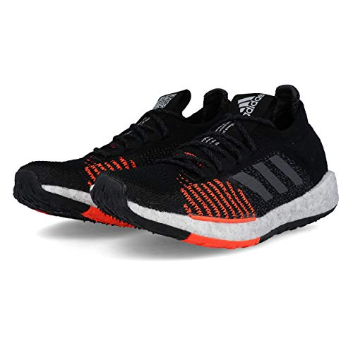 adidas Pulse Boost HD M Black Grey Solar Red 44 - Adidas Herren-boost-laufschuhe