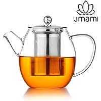 Umami Original Théière Osaka en Verre 1 Litre – Infuseur en INOX | Passe Au Lave-Vaisselle | Durable, Sain & Design