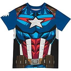 Marvel Avengers - Camiseta para niño - Captain America - 5 a 6 Años