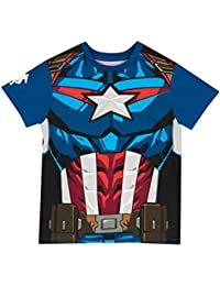 Captain America Boys Captain America T-Shirt Ages 3 to 11 Years