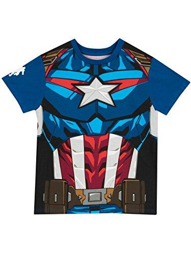 Marvel Captain America Jungen Captain America T-Shirt Avengers 128 cm