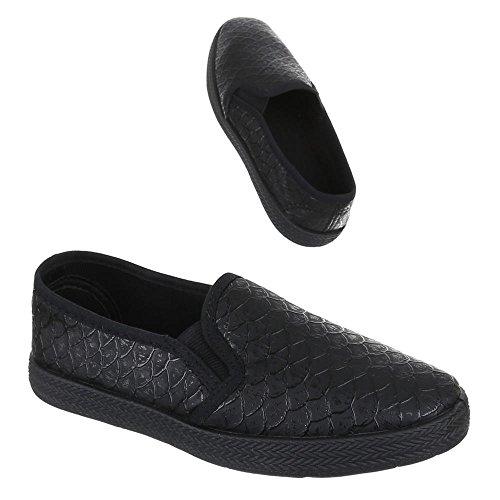 Chaussures pour enfants, 946–1, Ballerines Chaussons Noir - Noir