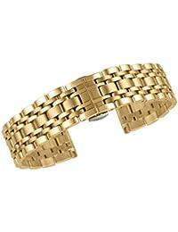 brida de sustitución de oro de alta calidad de 18 mm para los relojes de acero inoxidable 316L con hebilla de mariposa cepillado