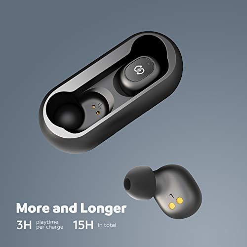 SoundPEATS Bluetooth 5.0 kabellose Kopfhörer True Wireless TWS Bluetooth Kopfhörer in Ear Mini Headset Sport drahtlose Ohrhörer IPX6 mit Ladebox Mikrofon automatische verbinden iPhone Huawei Samsung - 3