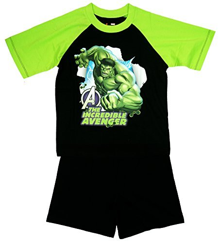 Image of Boys Official Marvel Hulk The Incredible Avenger Shorty Pyjamas sizes from 3 to 10 Years