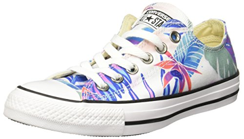 Converse Damen CTAS Ox Sneakers, Mehrfarbig (Fresh Cyan/Magenta Glow/White), 37.5 EU
