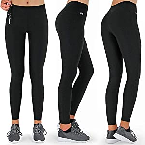 Formbelt Womens Running Tights Long/Workout Pants/Sports Leggings with Integrated Running Belt for Smartphone Keys   Fitness Yoga Cycling Outdoor Gym   High Waist Stretch Comfy Compression