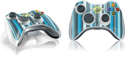 Stripes - Blue Cool - Skin for 1 Microsoft Xbox 360 Wireless Controller by Skinit