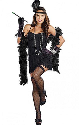 Kostüm Charleston Schwarz mit Zigarettenspitze Gr. S/M