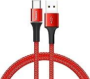 Baseus Halo Data Kablo, Type-C, 3A, 0.5M, Kırmızı - CATGH-A09