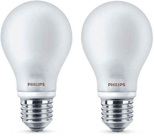 Philips LEDclassic Lampe ersetzt 40 W, E27, warmweiß (2700K), 470 Lumen, Doppelpack
