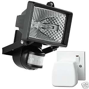 W8 New 150w Sensor Security Light Amp Wireless Chime Amazon Co Uk Diy Amp Tools