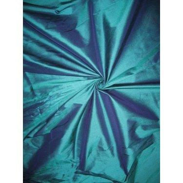 Reine Seide Dupionseide Stoff Kingfisher grün x blau Shot 137,2cm by the Yard -