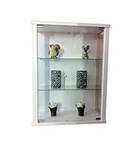 h ngevitrine sammlervitrine vitrine h ngeschrank weiss glas vitrine k che haushalt. Black Bedroom Furniture Sets. Home Design Ideas