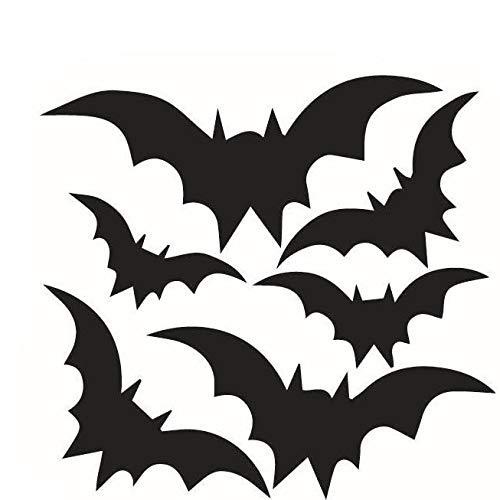 ShopSquare64 Kreative Halloween Dark Fledermäuse PVC Wasserdichte Wandaufkleber Abnehmbare Vinyl Kunstwand Dekoration Aufkleber Umweltschutz Halloween Wandaufkleber Fenster Dekoration Aufkleber Dekor